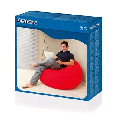 Bestway inflatable flocking bean bag chair with pump image 3