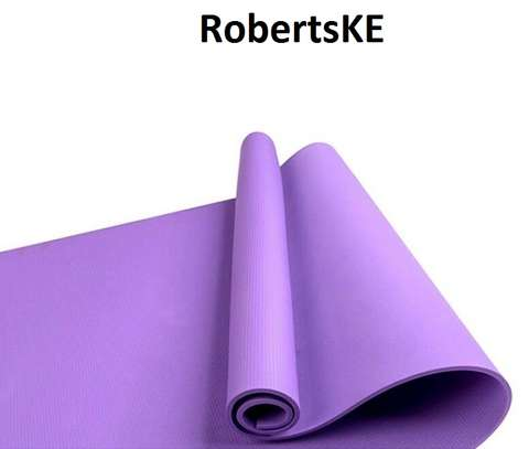 durable non-skid plain color yoga mat image 1