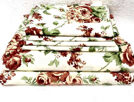 6 PC COTTON BEDSHEET SIZE 7 BY 8 image 1