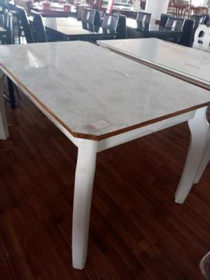 White dining table image 1