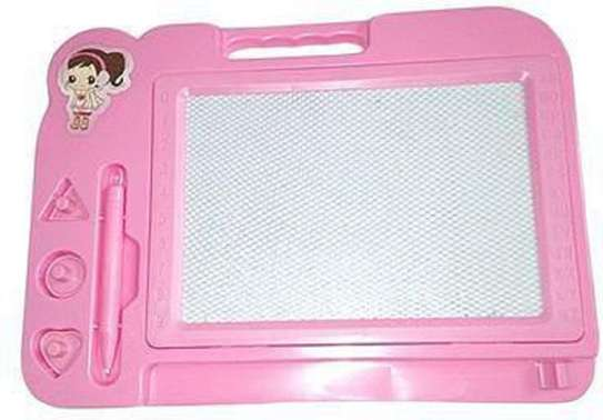 Kids Pink, Blue Writing Magnetic Drawing Board image 2