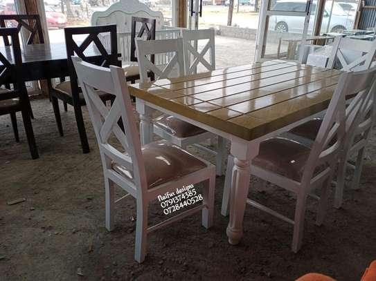 Modern six seater dining table set for sale in Nairobi Kenya image 1