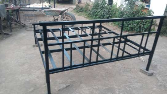 METAL FRAME BED WITH WOODEN FINISH FROM 3*6 TO 6*6 image 7