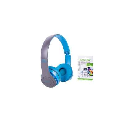 P47 Wireless Bluetooth Headphones + Free 4 GB SD Card image 1
