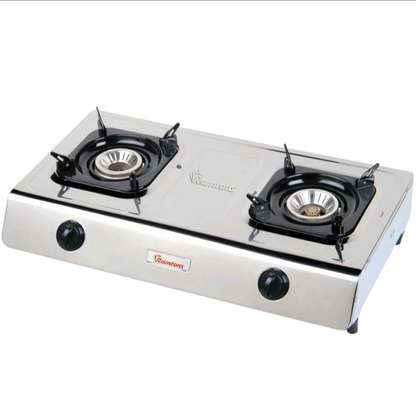 Ramtons Double Burner Gas Cooker - Silver image 3