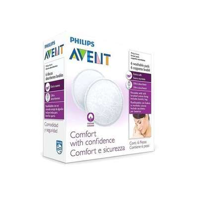 Philips AVENT Washable Breast Pads 6 Pack image 1