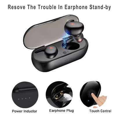 Y30 True Wireless Earbuds Touch-Control Daily Waterproof Sport Earbuds with Microphone Binaural Strereo Audio Earphones In-Ear Headset with Charging Case image 2