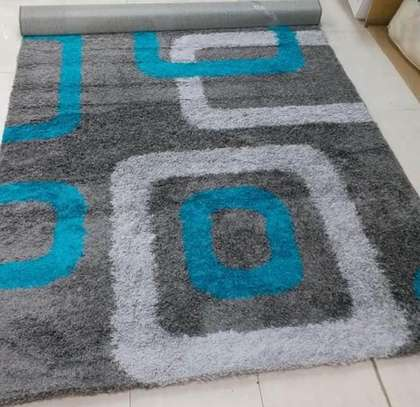 shaggy Turkish carpet grey print image 1
