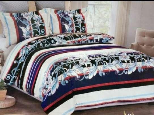 woolen duvet flowery blue image 1
