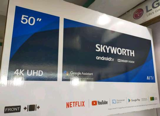 """Skyworth 50"""" 4K ULTRA HD ANDROID TV, NETFLIX, YOUTUBE PLAYSTORE 50Q20 image 1"""
