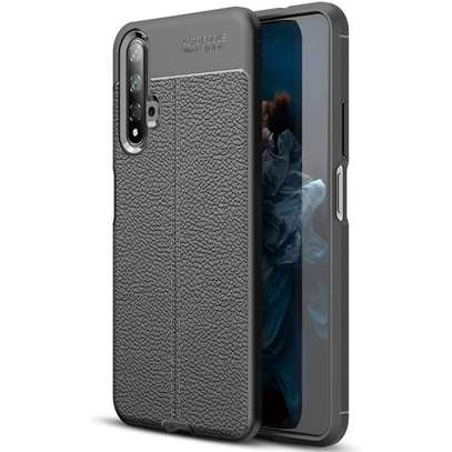 Auto Focus Leather Pattern Soft TPU Back Case Cover for Huawei Nova 5T image 1