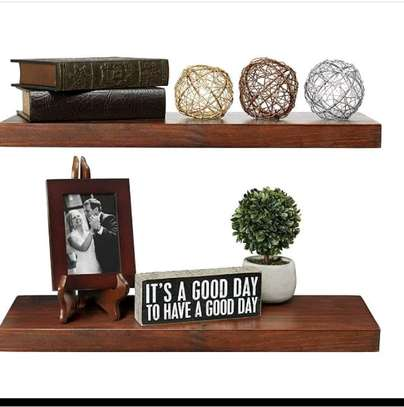 Wooden floating shelf image 1