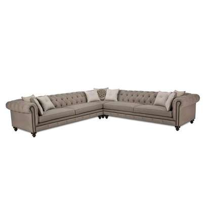 6 Seater rolled arms Sofa/Comfy Sofa design. image 1
