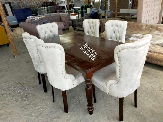 Modern dning set/Dining tables/ si lx seater dining chairs image 3