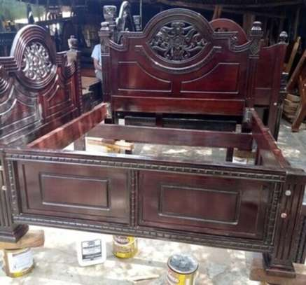 Mahogany Bed ,5 by 6 .Free Delivery & Assembly  !!! Pay on delivery!!! image 1