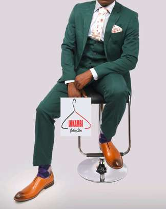 Green 3 piece suit