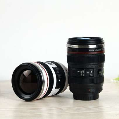 Camera Lens Shape Cup Coffee Tea Travel Mug Stainless Steel Vacuum Flasks Worldwide Store image 1