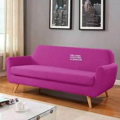 Modern purple two seater sofa image 1