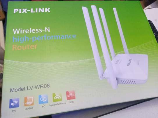 Wireless-N Router Dual Band 300Mbps Router 4 Antennas Pix-Link LV-WR08 image 1