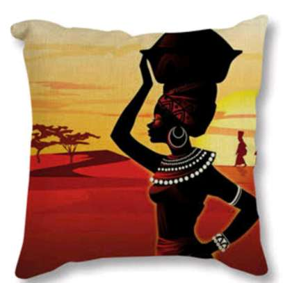 African throw pillow image 1