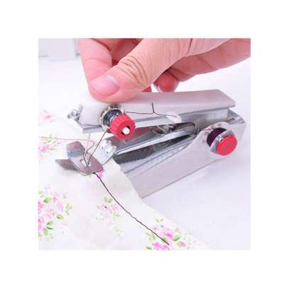 Generic US Portable Mini Handheld Sewing Machine Clothes Stitch Manual Sewing Machine(Colorful) image 3