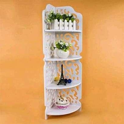 Corner decor shelf image 1