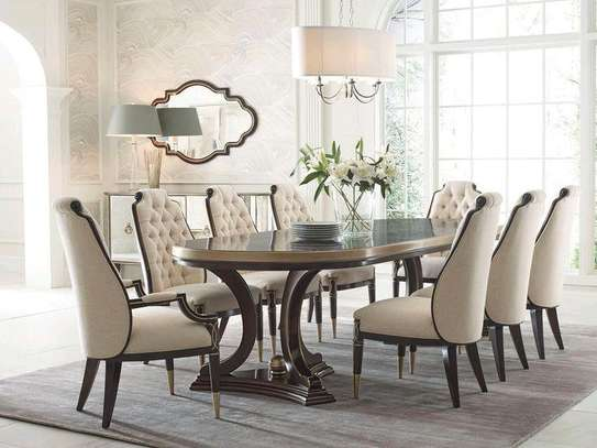 Mahogany wood dining tables for sale in Nairobi Kenya/Wooden dining table/Best dining table designs for sale in Nairobi Kenya/Eight seater dining table for sale in Nairobi Kenya image 1