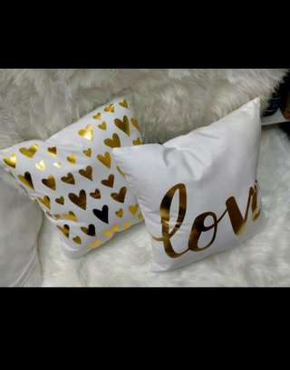 Gold Coated Throw Pillows image 5