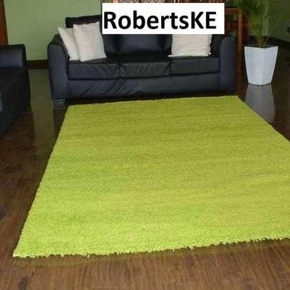 green turkish shaggy carpet image 1