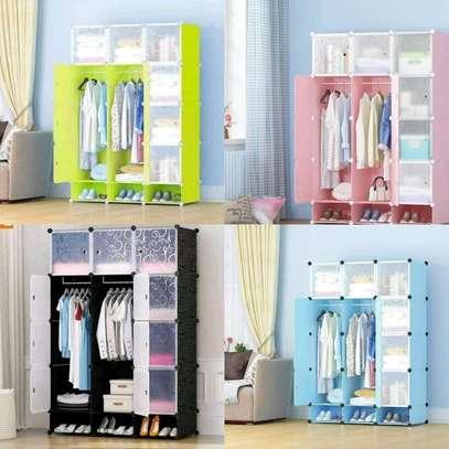 3 Column portable Plastic wardrobes image 4