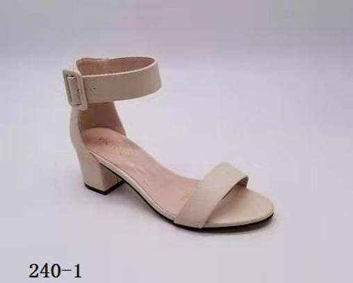 Ladies open chunky heels image 4