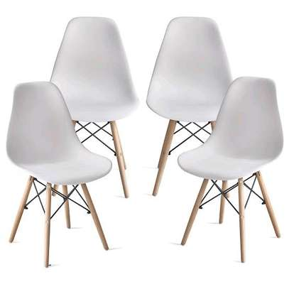 White Aemes Chairs image 1