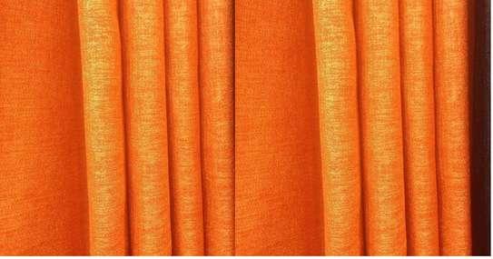 curtain linen orange image 1
