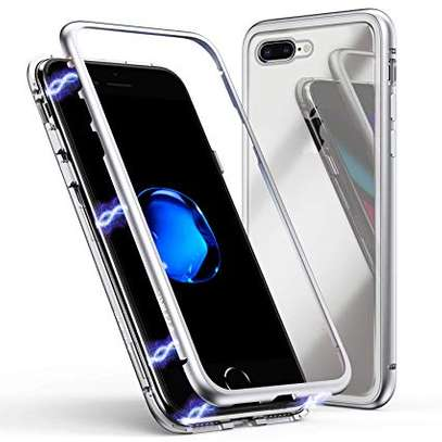Magnet Protective Case For iPhone 7 7+ With Metal Frame Glass Back image 5