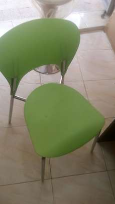 Spacious green stackable chair image 1