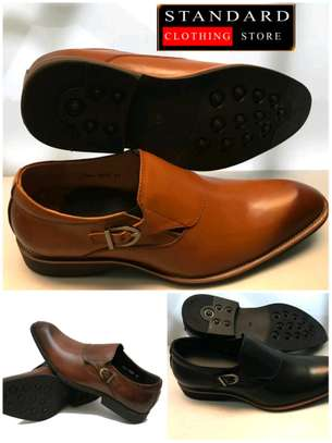 PURE ITALIAN LEATHER SHOES WITH RUBBER SOLE image 3