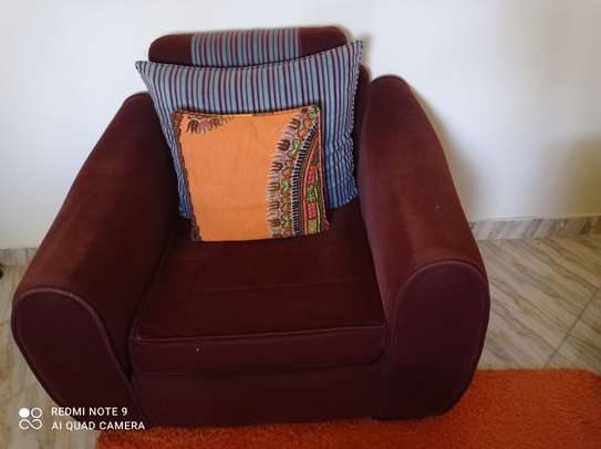 3 by 5ft Carpet and 5 seater sofa set