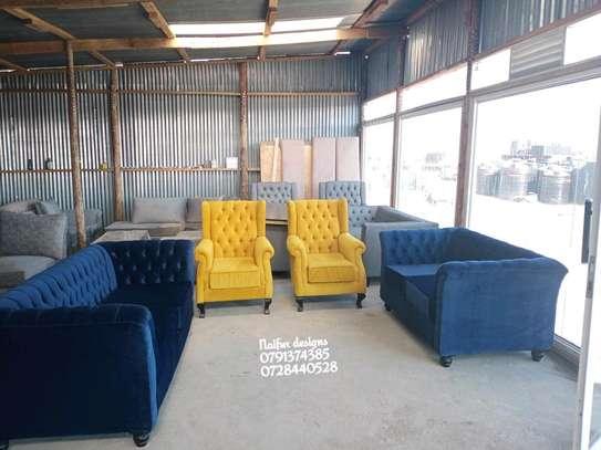 Modern seven seater sofas for sale in Nairobi Kenya/five seater sofas/three seater sofas/blue two seater sofas/yellow one seater sofas/latest chesterfield sofa set designs in Nairobi Kenya image 2