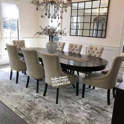 Eight seater dining chairs/classic dining set image 1