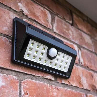 LED Solar Wall Light with Motion and Night Sensor Photocell
