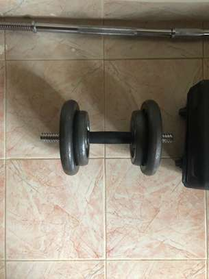 50kg Barbell and Dumbbell Set image 5