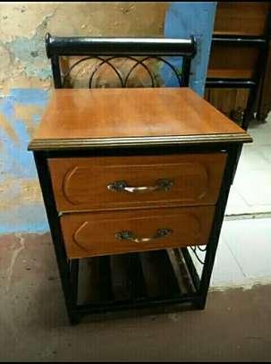 Mahogany plus metallic Bedside drawers image 3