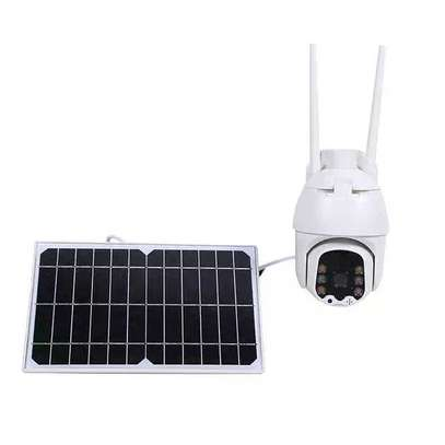 cctv camera Solar  Rotate 355° left and right, 120° up and down image 1