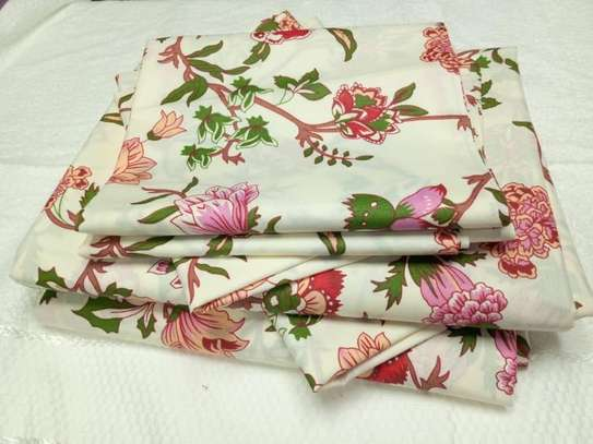 bed sheets flowery yellow 7 by 8 image 1