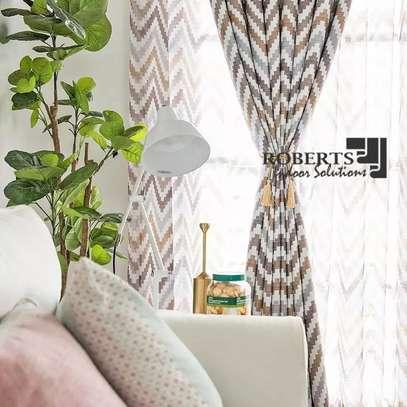 curtains zigzag prints gold image 1