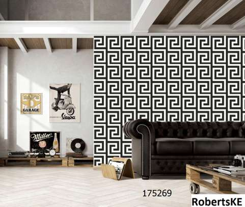 Black and white versace wallpaper image 1