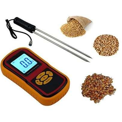Digital LCD Moisture Meter with Measuring Probe Tester for Corn Wheat Rice Bean Wheat Hygrometer Moisture Instrument image 1
