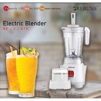 2in1 Blender 1.25l With Grinding Machine 50G - White image 1