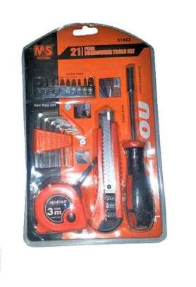 21 Pcs Screw,Alen Key,Tape Measure,Knife Repair Tool Set image 1