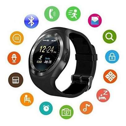 Generic Y10 Touch Screen Smart Watch Phone with SIM Slot - Black